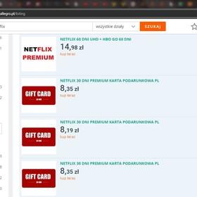 Netflix na Allegro