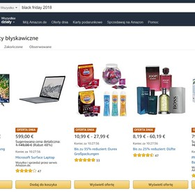 Black Friday 2018 Amazon Tydzień Cyber Monday