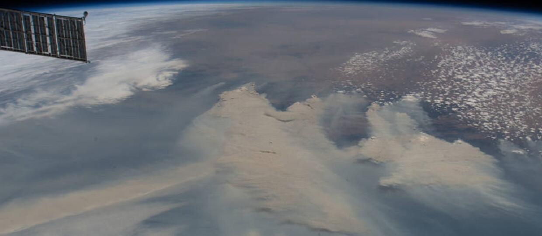 pożary w Australii widziane z kosmosu