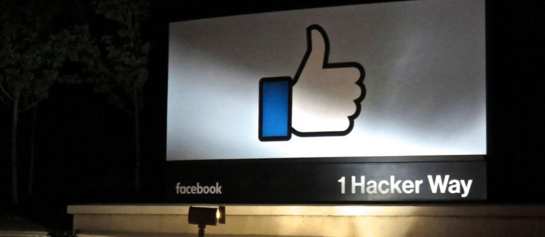 logo Facebooka w kwaterze głównej
