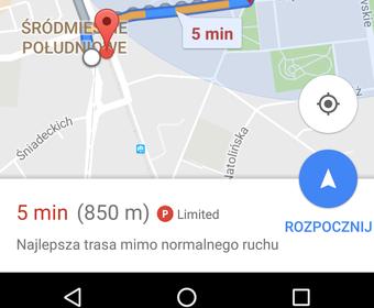 Google Maps pomoże znaleźć miejsce parkingowe