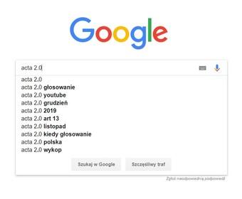 """Google straszy pokazując wyniki wyszukiwania po wprowadzeniu """"ACTA 2.0"""". """"Miasto duchów"""""""