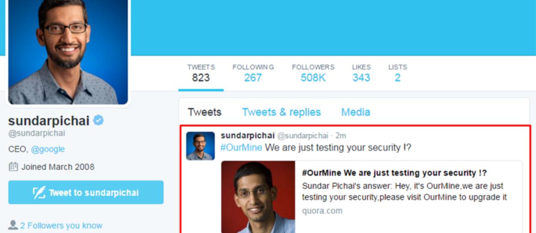 Hakerzy narozrabiali na Twitterze szefa Google