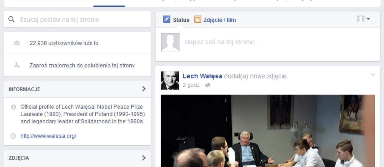 Lech Wałęsa przeskakuje z Wykopu na Facebooka