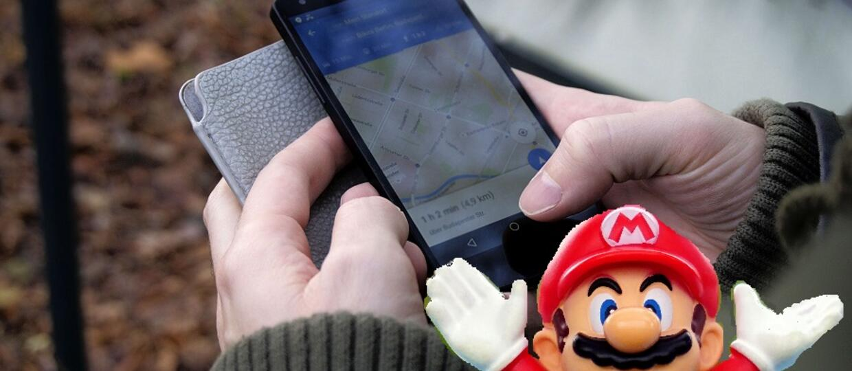 Mario w Google Maps
