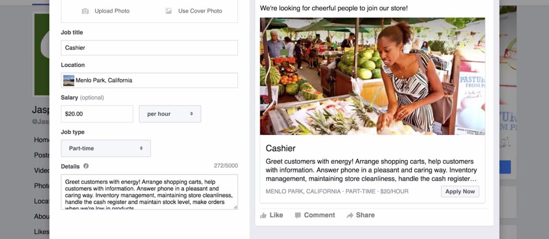 Na Facebooku będzie można znaleźć pracę