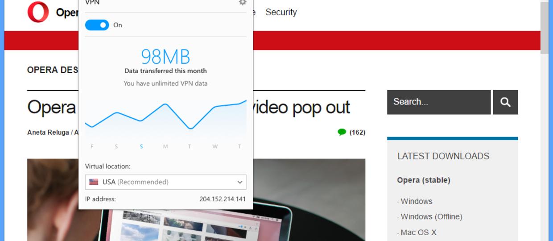 Opera zapewni prywatność w internecie