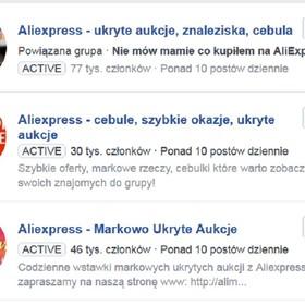 Podróbki z AliExpress przeszły na Facebooka