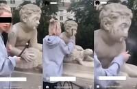 niszczenie rzeźby w Dolince Szwajcarskiej