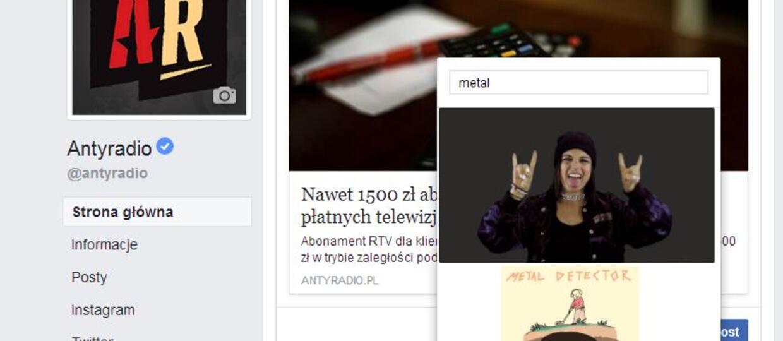 Posty na Facebooku można już komentować GIF-ami
