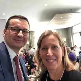 Mateusz Morawiecki i Susan Wojcicki