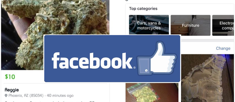 Sex, narkotyki i broń sprzedawane na Facebooku