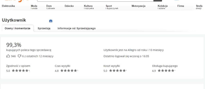Sprzedawca odwołał gwarancję za negatywny komentarz na Allegro