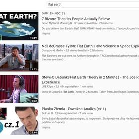 płaska ziemia na YouTube