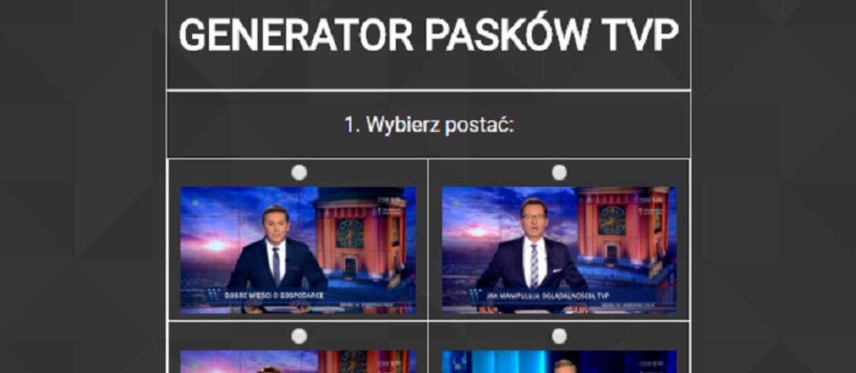 Generator pasków Wiadomości TVP
