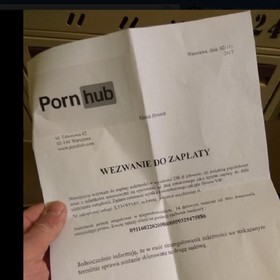 Wezwania do zapłaty od Pornhuba trafiają do skrzynek Polaków