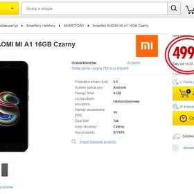 Xiaomi Mi A1 za 499 zł pomyłkowym hitem internetu