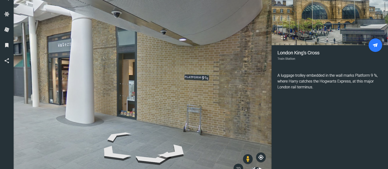 Zobacz świat Harry'ego Pottera w Google Earth