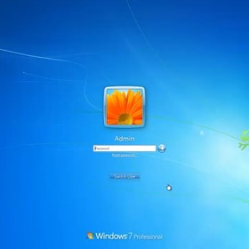 ekran logowania Windows 7