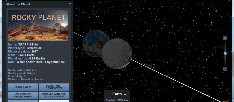 Zobacz planety z TRAPPIST-1 dzięki aplikacji NASA