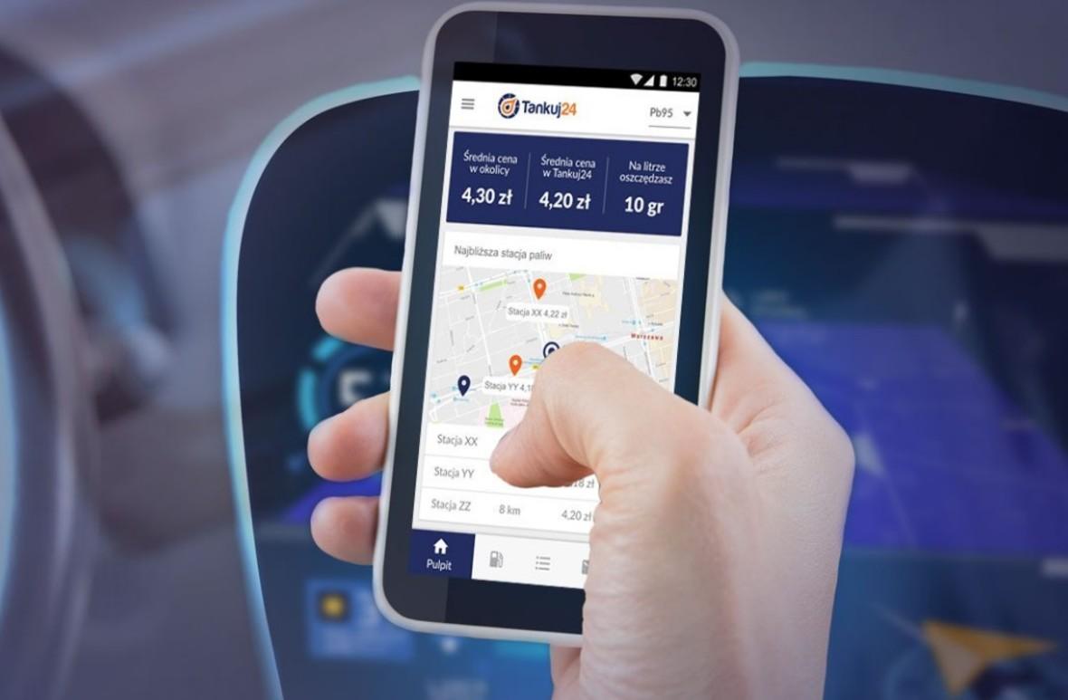 Aplikacja do kupowania paliwa smartfonem