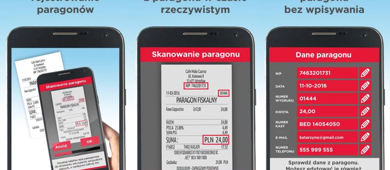 Aplikacja skanuje i wysyła dane do Loterii Paragonowej