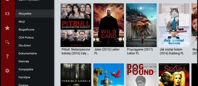 aplikacja CDA na Android TV