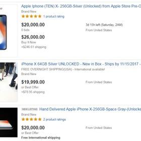 Ceny iPhone'a X sięgają już 20 000 dolarów