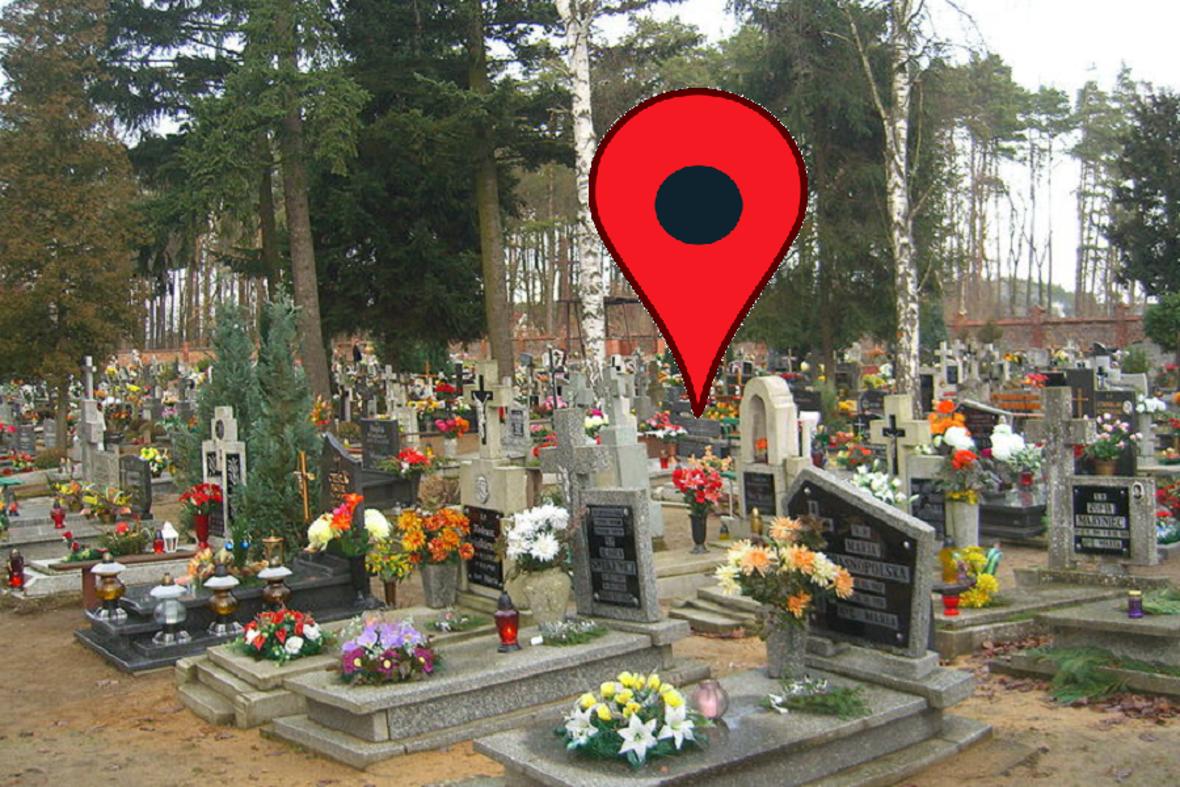 Cmentarne nawigacje podprowadzają pod sam grób
