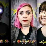 filtry Cyberpunk 2077 na Instagramie