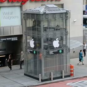 Fani Apple uwierzyli w sklep firmowy założony w windzie