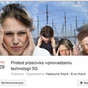 protest przeciw sieciom 5G