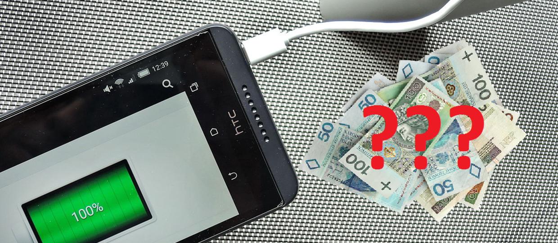 Ile płacimy za ładowanie smartfona przez rok?