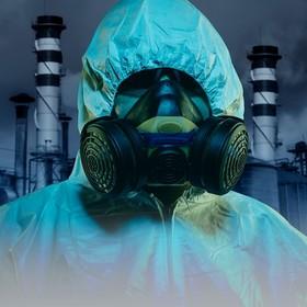 strój ochronny przez elektrownią atomową