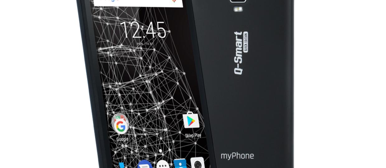 myPhone Q-Smart Black Edition - black metal z Biedronki
