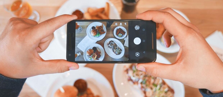 fotka jedzenia na Instagram