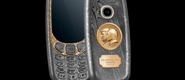Nokia 3310 z portretami Putina i Trumpa za 10 000 zł