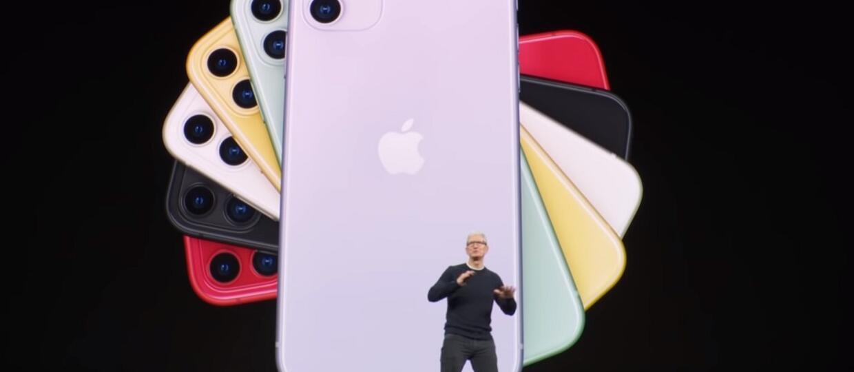 Tim Cook prezentuje iPhone'a 11