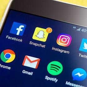 Snapchat na smartfonie