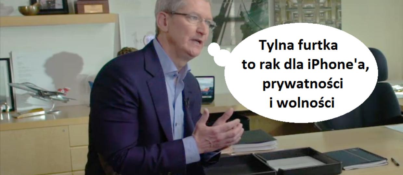 Tim Cook: Nie stworzymy raka dla iPhone'ów