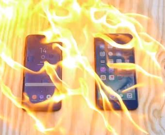 smartfon w ogniu