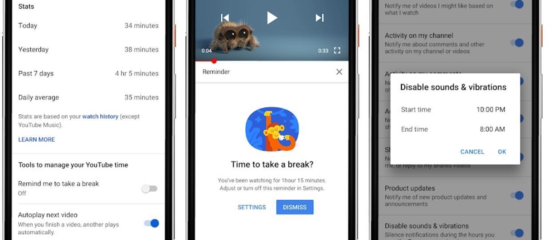 licznik czasu oglądania w aplikacji YouTube