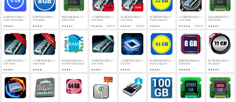 aplikacje do powiększania RAM-u
