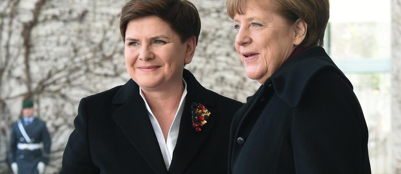 Premier Beata Szydło i kanclerz Angela Merkel