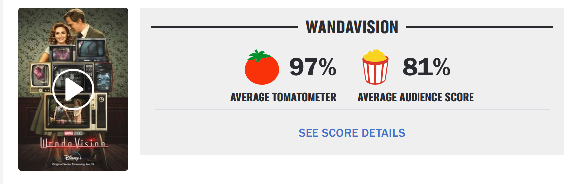 WandaVision na Rotten Tomatoes